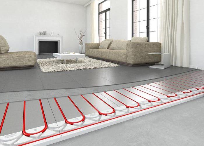Installation de plancher chauffant par Is'Eco
